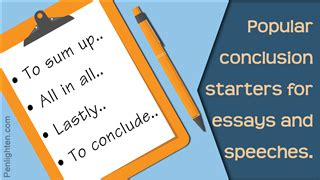 Ending the Essay: Conclusions